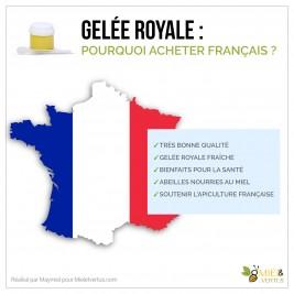 Pourquoi acheter de la gelée royale française ?