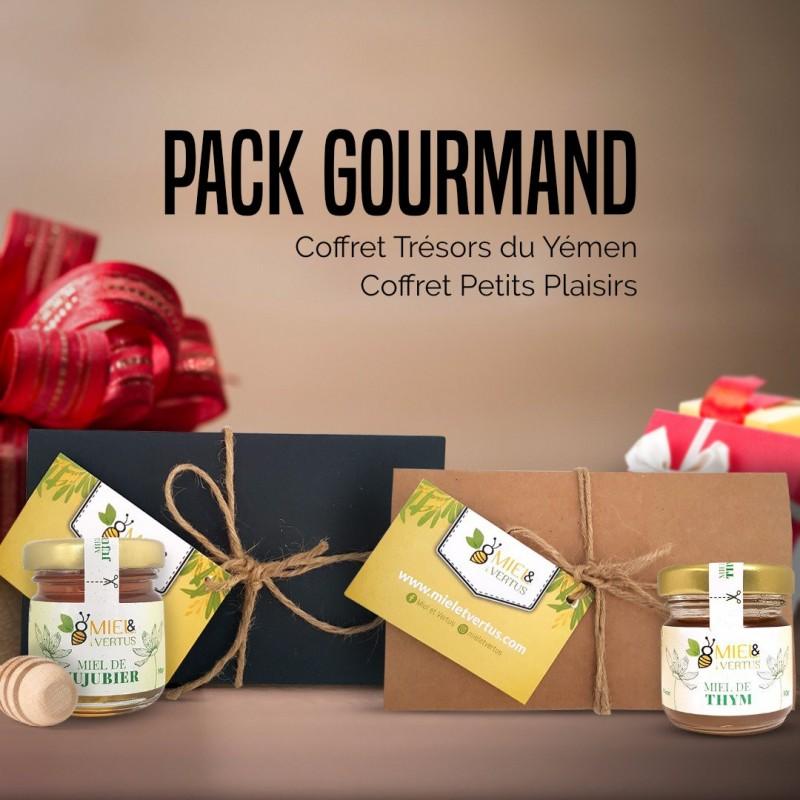 Pack Gourmand - 2 coffrets miel en 1