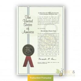 Certificat de dépot de brevet sur le Pot de 7 guerison traduit en français