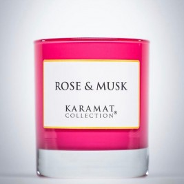 Bougie parfumée Rose et musk Karamat Collection