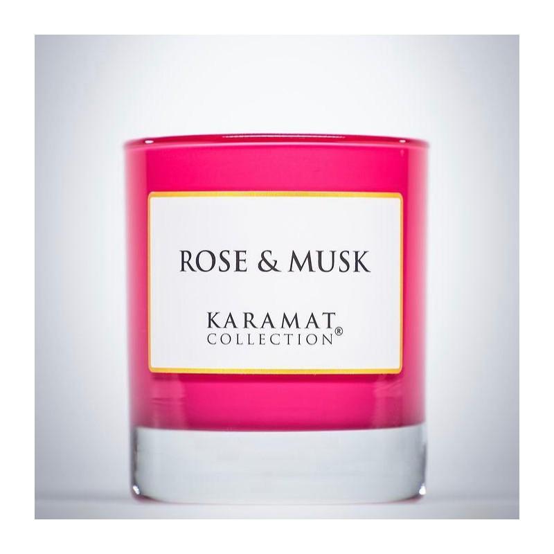Bougie parfumée Rose et musk Karamat Collection